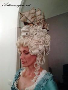 parrucca '700 con struttura - artimmagine napoli